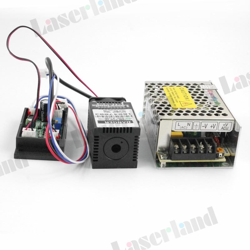 Industrial 120mW Blue 445nm 450nm Laser Diode Module w/TTL+12V Power Supply 3350 150mw 405nm blue violet purple laser diode module 12vdc ttl stage lighting