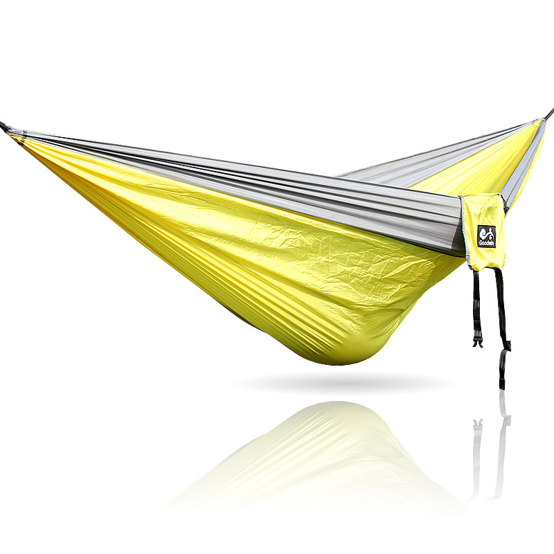 Gray Yellow Gray 300*200cm Camping Hammock Outdoor Furniture