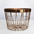 New Gold Color Metal Storage Basket