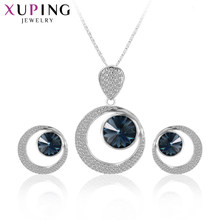 Xuping Noble Verfijnde Mode Sieraden Sets Populaire Kristallen Uit Swarovski Charm Style Hoge Kwaliteit Party Gifts M22-XS6112(China)
