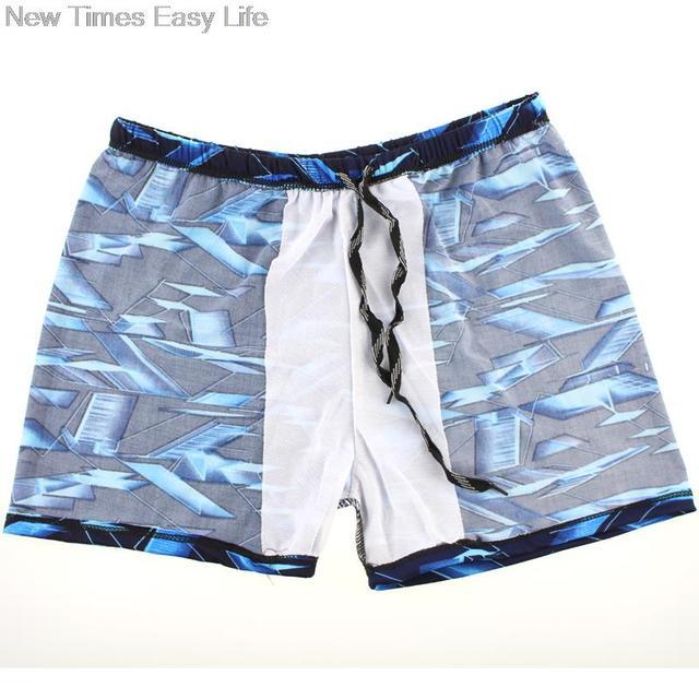 Blue 3D Space Sexy Men Male Bathing Swimming Sport Swim Pool Suit Swimwear Boxer Shorts Beach Trunks Briefs Swimsuit Beachwear