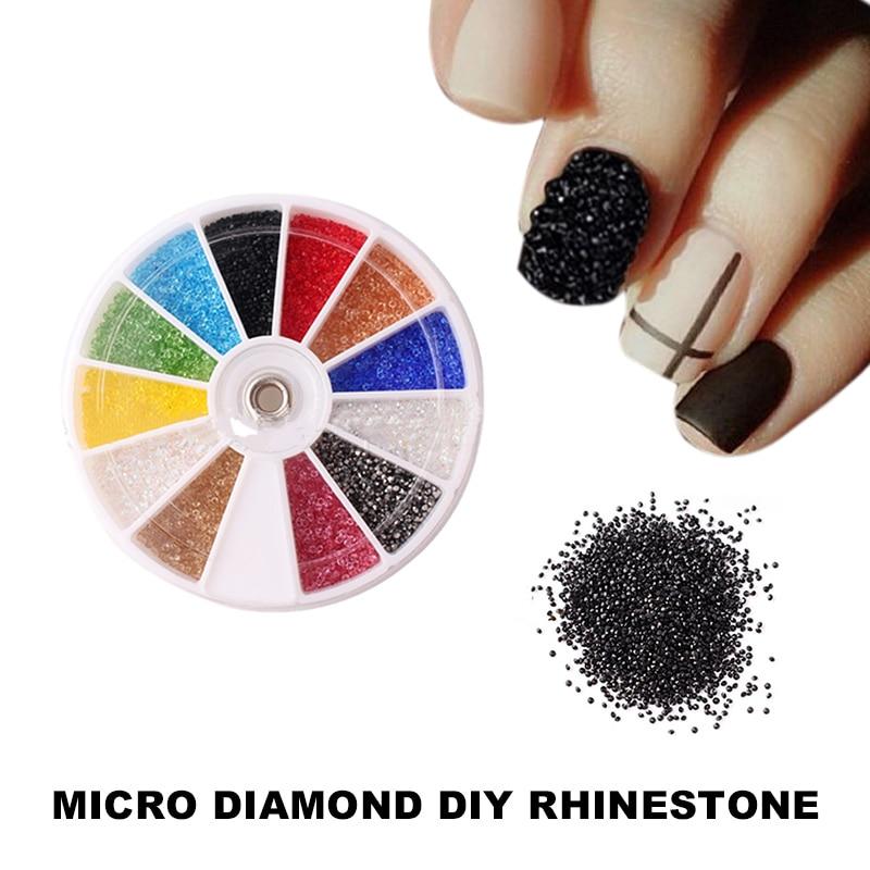Vrenmol Micro Diamond Nails Rhinestone 3D Nail Art Glitter Rhinestones Decorations Crystal Pixie Accessories Makeup In From