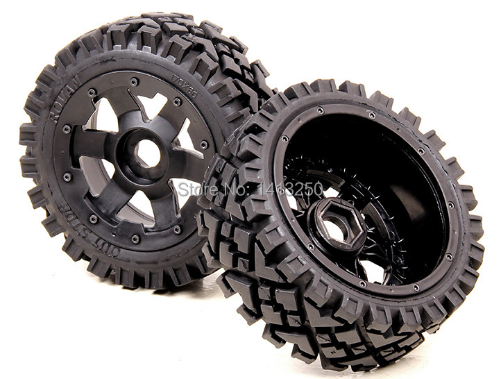 5B Front All Terrain wheels set  for baja parts,free shipping 5b high strength nylon front macadam wheels set for baja parts free shipping