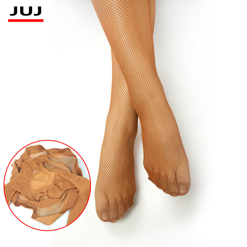 Sexy Stocking Women Mesh Latin Stocking  Toe Encryption Plus Color Pantyhose Pants Transparent Core Wire Black