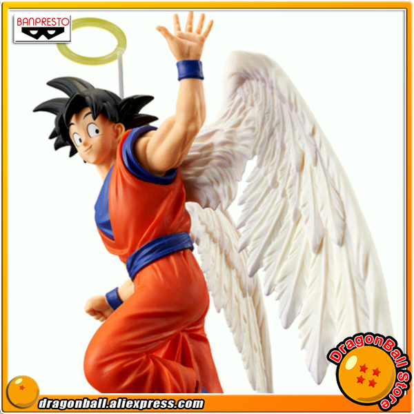Japan Anime Dragon Ball Z Original Banpresto DRAMATIC SHOWCASE 5th season vol.1 Collection Figure - Son Goku (Angel ver.) lonsun japan anime dragon ball z son
