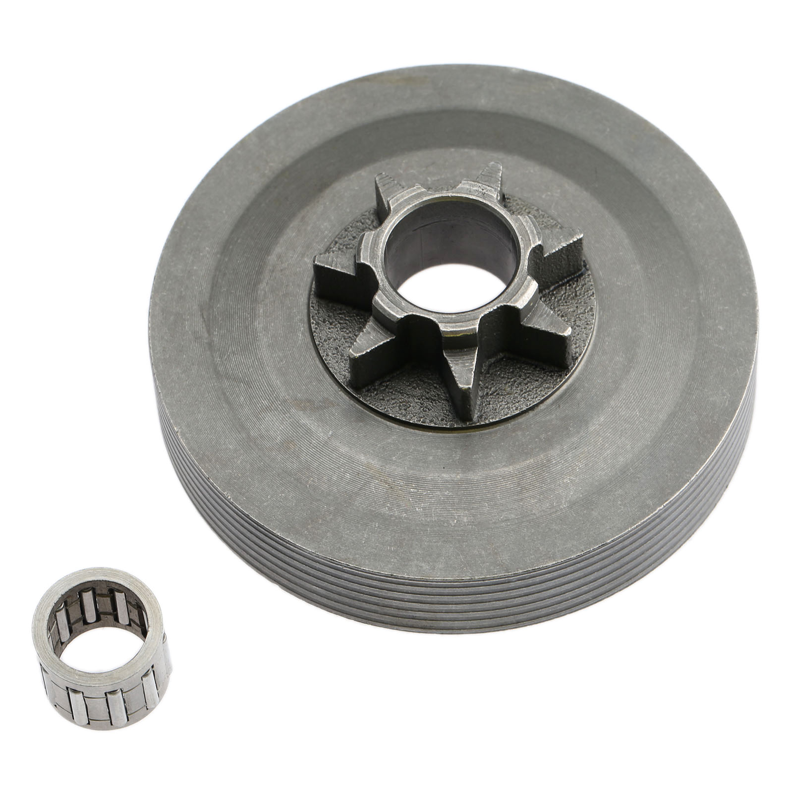 Steel Tool Parts 4500 5200 5800 Chainsaw Sprocket Rim Clutch Drum One Body W/Needle Bearing Set For 45CC 52CC 58CC Chainsaw Part
