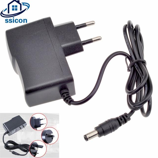 SSICON 2Pieces 12V 1A 5.5mm x 2.1mm Power Supply AC 100-240V For CCTV Camera EU/US/UK/AU Plug