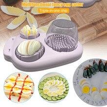 3 In 1 Multi-Boiled Egg Slicers Cutter Multifunction Stainless Steel Slicer Wedger Dicer Tool HYD88 10 in 1 stainless steel multi tool hammer wood effect