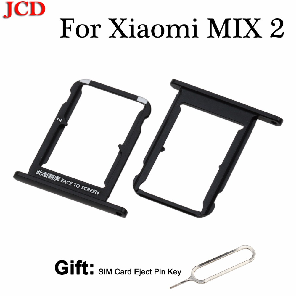 JCD For Xiaomi MIX 2 Card Tray Holder SIM Card Slot Adapter Socket Mi Mix2 SIM Card Tray Holder Replacement Repair Spare Parts