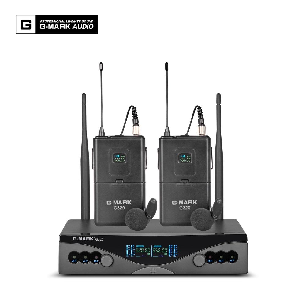 Image 3 - G MARK UHF Wireless Microphone System G320 Long Range Dual  Channel 2 Handheld Mic Transmitter Professional Karaoke Top  QualityMicrophones