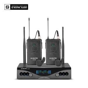 Image 3 - G MARK UHF Wireless Microphone System G320 Long Range Dual Channel 2 Handheld Mic Transmitter Professional Karaoke Top Quality
