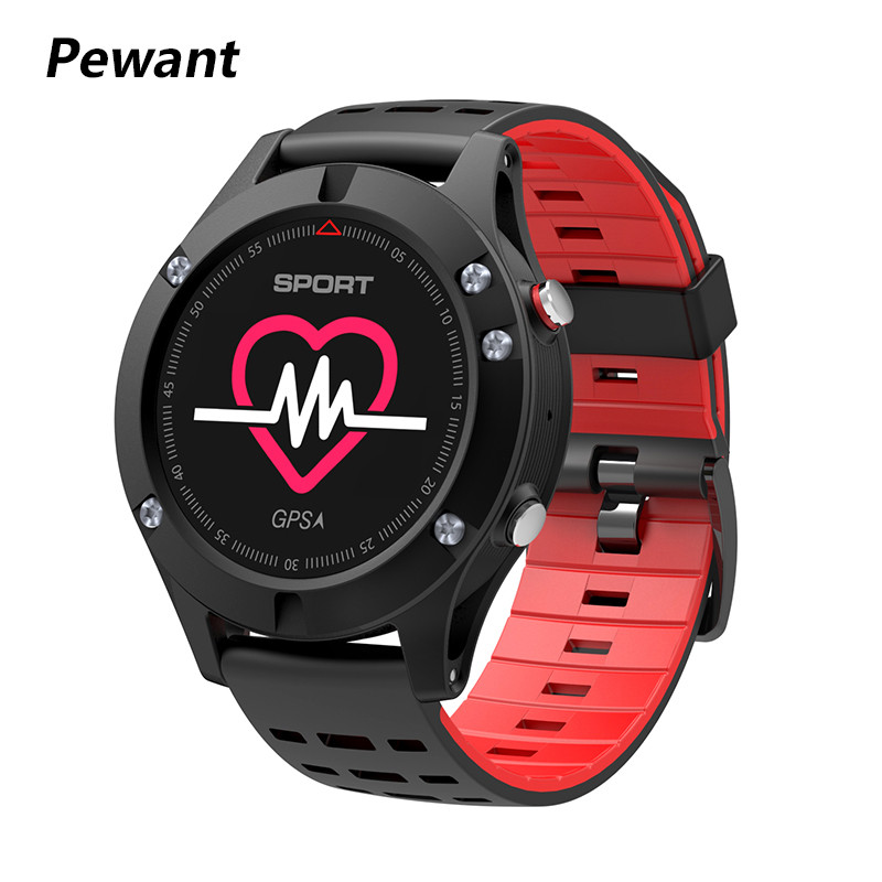 Pewant <font><b>No.1</b></font> <font><b>F5</b></font> IP67 Smart Watch OLED Multi-Sport Heat Rate Monitor Fitness Tracker Bluetooth 4.2 Altimeter Barometer Themometer image