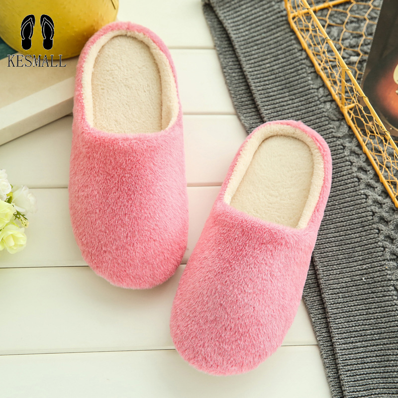 2017 Indoor House Slipper Soft Plush Cotton Cute Slippers Shoes Non-Slip Floor Home Furry Slippers Women Shoes For Bedroom WS314 summer women slides slipper bathroom slipper bath non slip plastic home couple indoor cool slipper