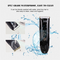 RIWA IPX7 Waterproof Clipper Professional Low Noise 100 240V Cordless Electric Hair Trimmer For Men