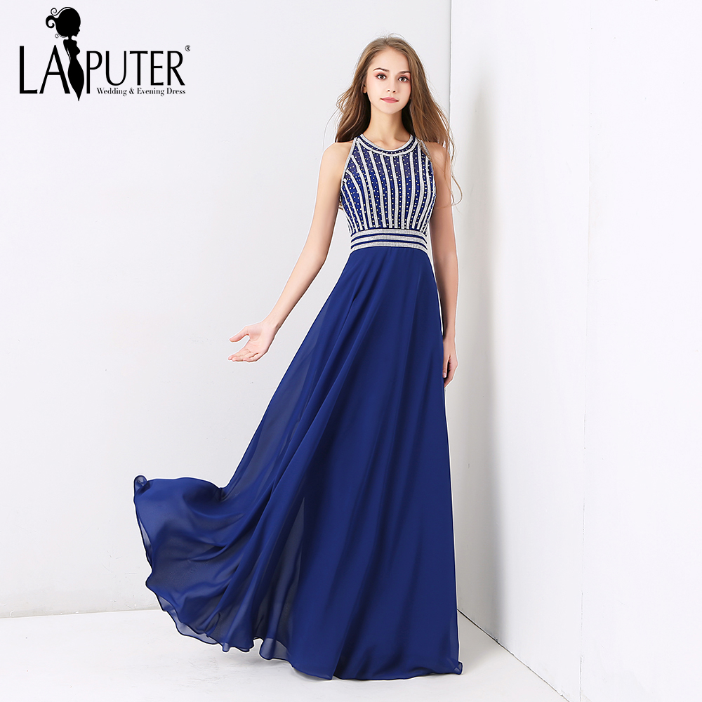 Discount Designer Evening Dresses: Laiputer 2018 African Royal Blue Arabic Cheap Evening Prom
