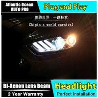 Автомобильный Стайлинг 2013 2016 для Ford Mondeo Fusion фары Mustang стиль светодиодный фары DRL Объектив двойной луч HID Xenon bi xenon объектив