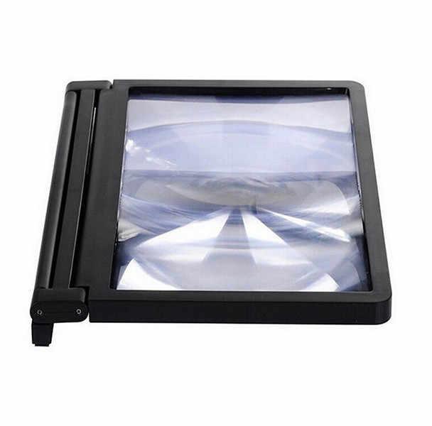 8 pouces 3D téléphone écran vidéo loupe support pliant cadeaux de noël stéréoscopique amplifiant support de téléphone moniteurs de voiture