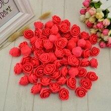 50 pcs PE Foam fake flower roses head artificial flowers cheap wedding decoration gift box scrapbooking diy needlework Multi-use