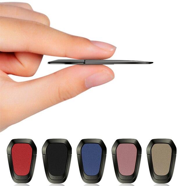 Accesorios de Stent de metal ultrafinos soporte para teléfono móvil anillo de dedo magnético para iphne XS 7 8 Linda celda sostenedor del teléfono inteligente
