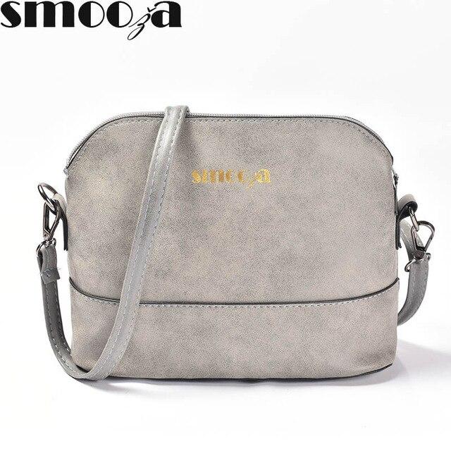 1052abb0d747 SMOOZA Новая модная женская сумка скраб оболочки мешок нубук маленькая сумка  через плечо сумки через плечо женские сумки купить на AliExpress
