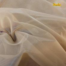 Мягкий сетчатый тонкий телесный цвет тюль 160 см шириной 5 м/лот хорошее качество для пошива прозрачного корсетного платья