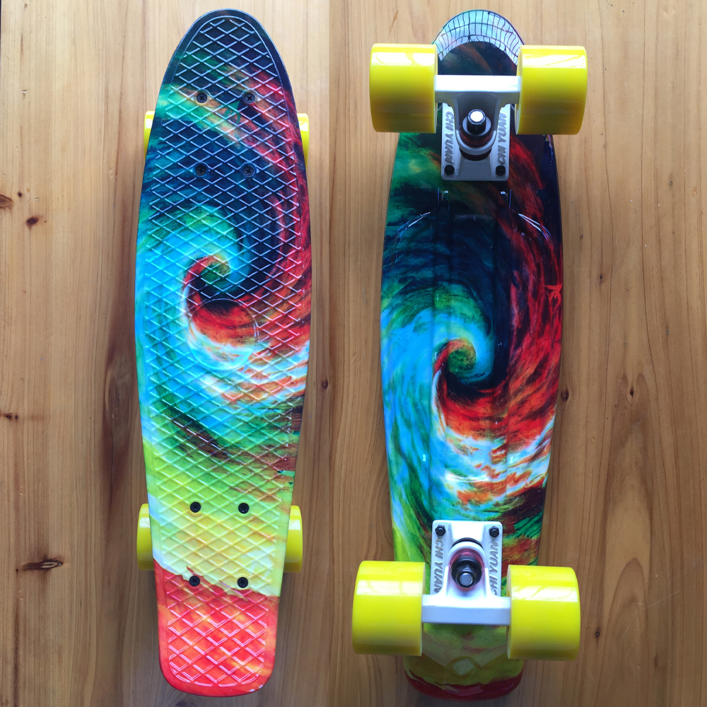 Mini 22 Inch Cruiser Board Plastic Skateboard 22 X 6 Retro Longboard Skate Long Board Graphic Printed Twister peny skateboard longboard 22 retro mini skate trucks deskorolka professional fish skateboard plastic complete tablas de skate