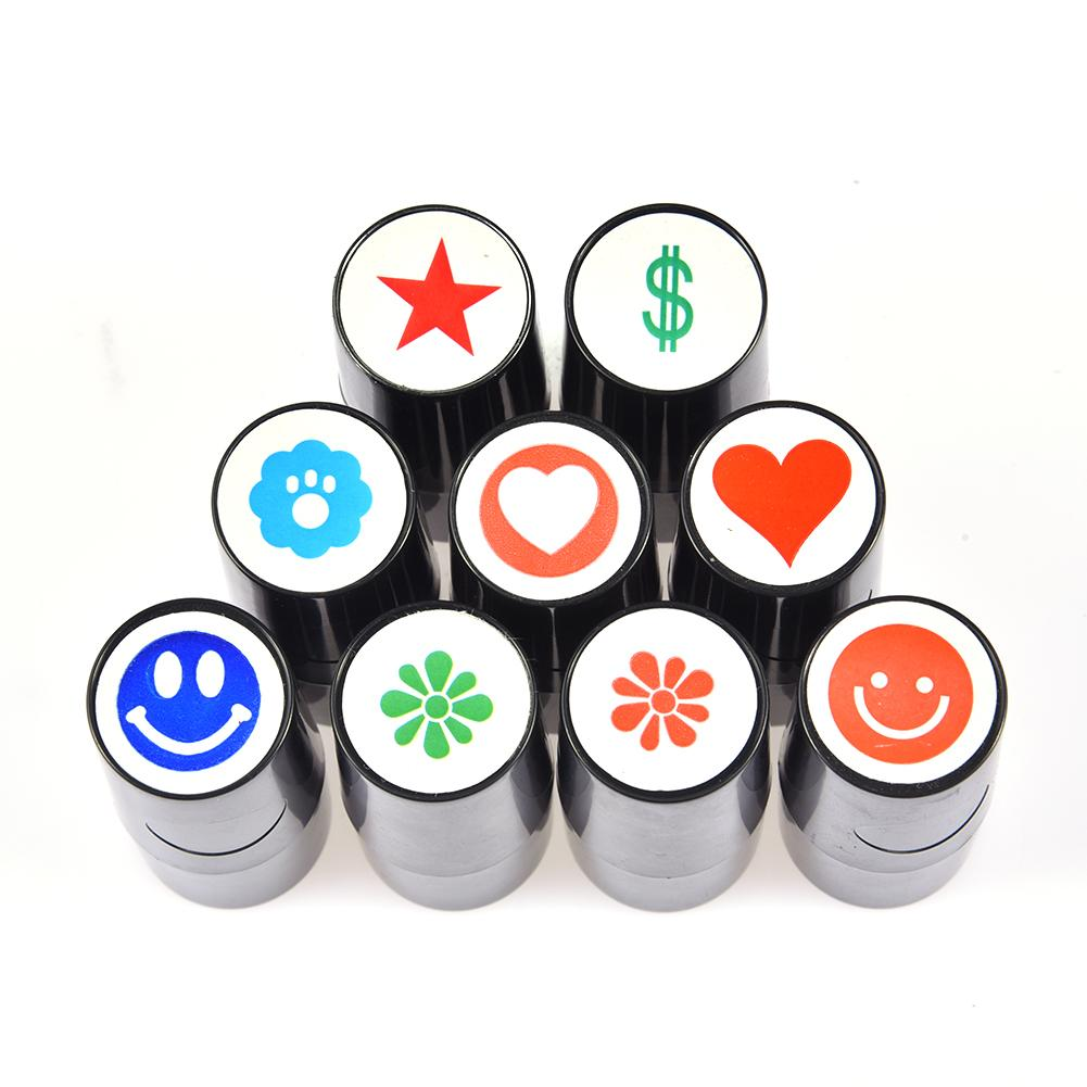 Golf Ball Stamper Professional Quick-dry Plastic Silicone Stamp Marker Impression Seal Golf Club Accessories Gifts Random Color