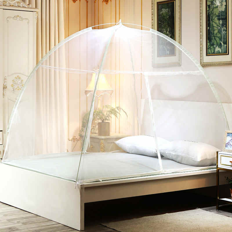 Student Dormitory Home Mosquito Net Adults Bed Tent Mesh Installation-free Mongolian Yurt Mosquito Net Bed Canopy Curtain Folded