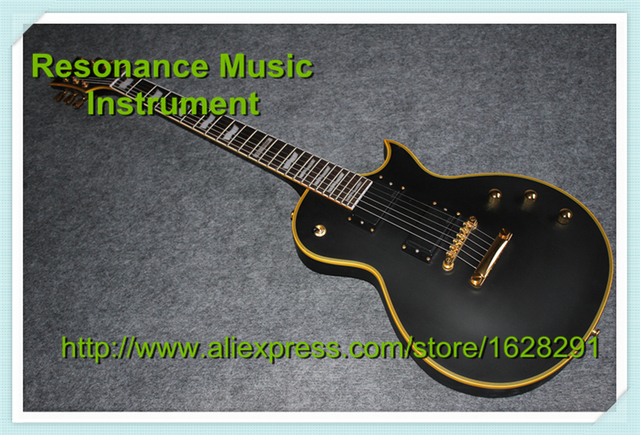 Cheap Top Quality Matte Black Finish ESP Eclips Electric Guitars Chinese With Gloden Hardware