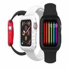 Soft Silicone Case Cover For Apple Watch Band 4 Flexible Protective Iwatch 40mm/44mm Rubber Bumper Accessories