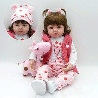 55CM Silicone Reborn Doll Bonecas Baby Reborn Realistic Magnetic Pacifier Bebe Bjd Doll Reborn For Girl