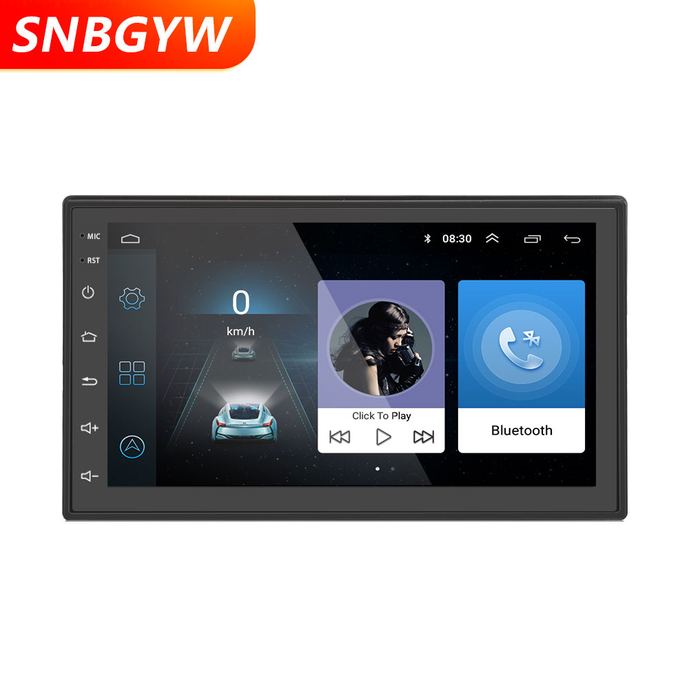 Android 6.0 autoradio 1024x600 GPS Navigation Bluetooth lecteur USB 1G DDR3 + 16G NAND mémoire Flash DH002