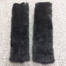 1Pair Real Sheepskin Car Seat Belts Covers