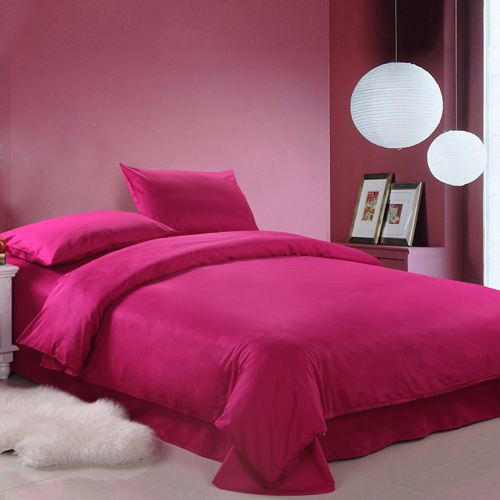 FREE SHIPPING! Active 100% cotton four piece set bedding 100% cotton solid color piece set 100% cotton active