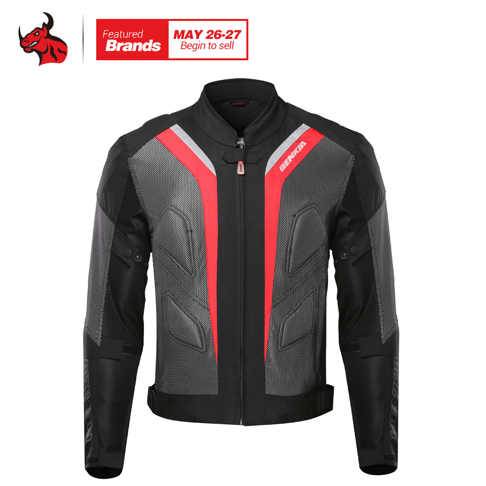 BENKIA Motorcycle Jackets Body Armor Protective Moto Jacket Motorbike Windproof Jaqueta Clothing Motorbike Motocross Jacket