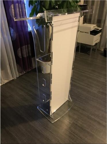 Free Shipping Modern Acrylic Hot Sale Publipt High Quality Elegant Acrylic Podium Acrylic Pulpit Podium Acrylic Lectern Podium