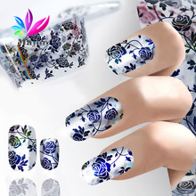 New Star Foil Nail Art Sticker Dots Flowers Net Wavy Design Transfer Foils Decal Nails Manicure Beauty Tools 2017 Hot