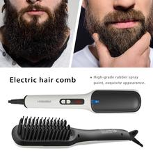 Men's Beard Hair Straighteners Ion Beard Straight Heating Comb Electric Hair Combs Unisex Styling Comb
