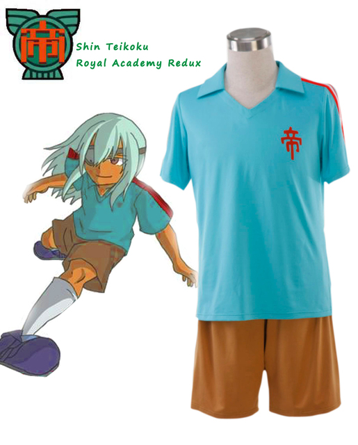 8fbad8c3283 Anime Inazuma Eleven Shin Teikoku Royal Academy Redux Soccer team School Uniform  Cosplay Costume Cosplay Costume