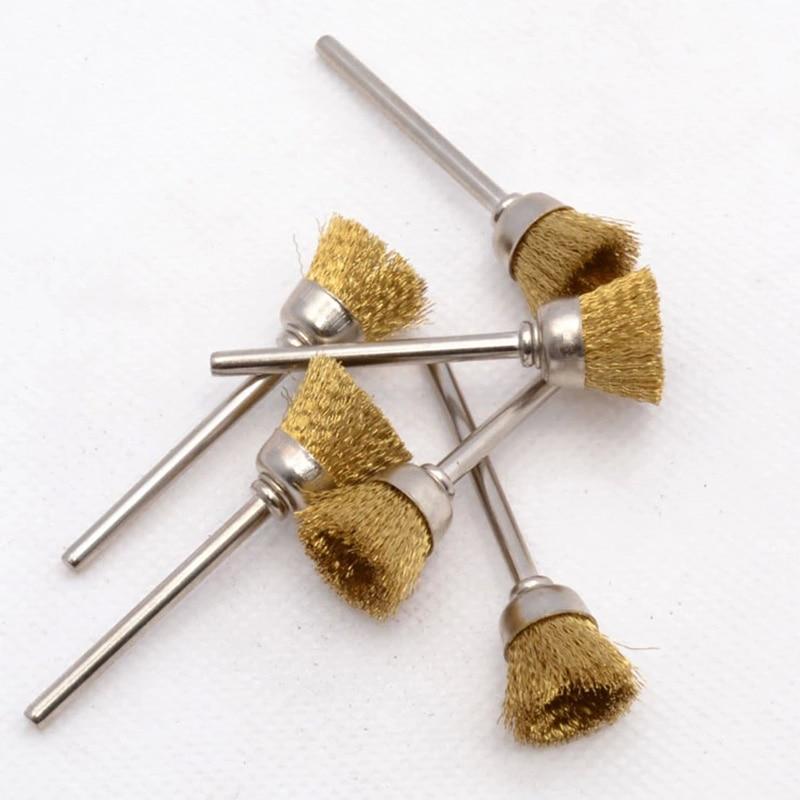 10 st. Ståltrådhjulborste dremelverktyg tillbehör roterande - Slipande verktyg - Foto 1