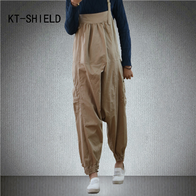 High waist Autumn trousers womens rompers jumpsuit casual Loose sleeveless backless fashion denim overalls cotton harem pants 2014 new fashion reminisced men vintage trousers casual jeans wash capris pants loose plus size overalls zipper denim jumpsuit