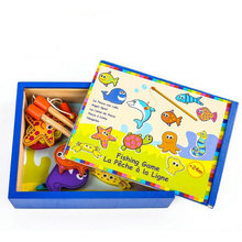 цена на French BOIKIDO, wooden educational toys, magnetic toys, fishing fishing board games, educational toys