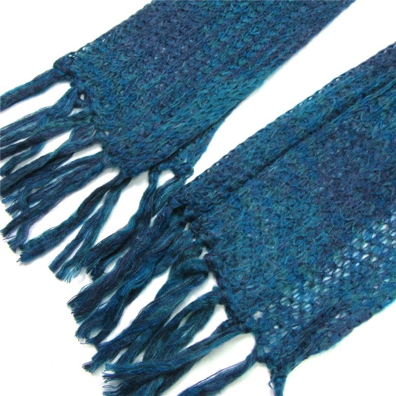 Syal Untuk Wanita Musim Dingin Hangat Tebal Rajutan Pashminas Panjang - Aksesori pakaian - Foto 4