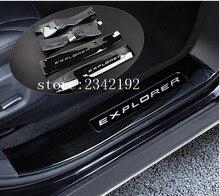 De alta Calidad de acero Inoxidable interior exterior travesaño de la puerta placa del desgaste for2013-2017 Ford Explorer Manera De La Edición