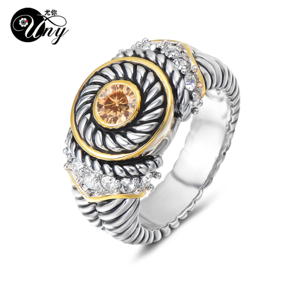 UNY Jewelry Ring Vintage Antique Rings Designer Fashion Brand Hardy Womens CZ Rings Femme Wedding Christmas Valentine Gifts Ring