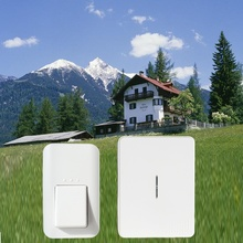 38 куранты новые высокое качество 433 МГц водонепроницаемый без батареи беспроводной дверной звонок 120 м ЕС plug главная аккумуляторный СВЕТОДИОДНЫЙ свет дверной звонок