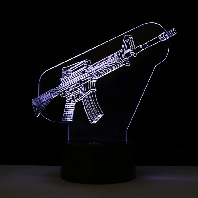 Captivating Creative LED Night Light Gun Shape Lamp Color Changing Decorative Desk  Table Lamp Home Decor