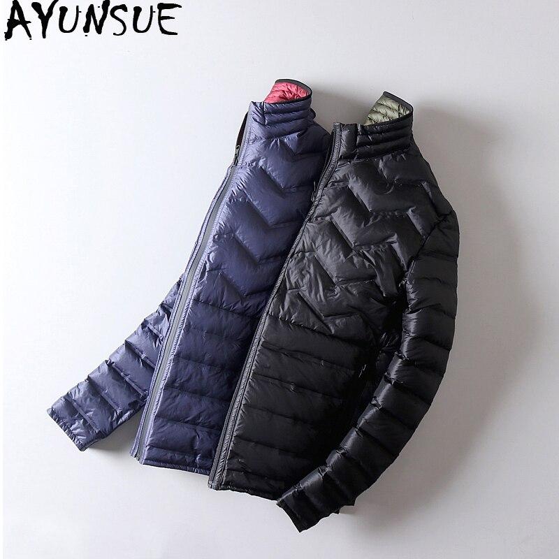AYUNSUE Ultra Light Down Jacket Men Double-sided Wear Thin Autumn Winte Jackets For Men Puffer Coat Abrigos Para Hombre KJ791