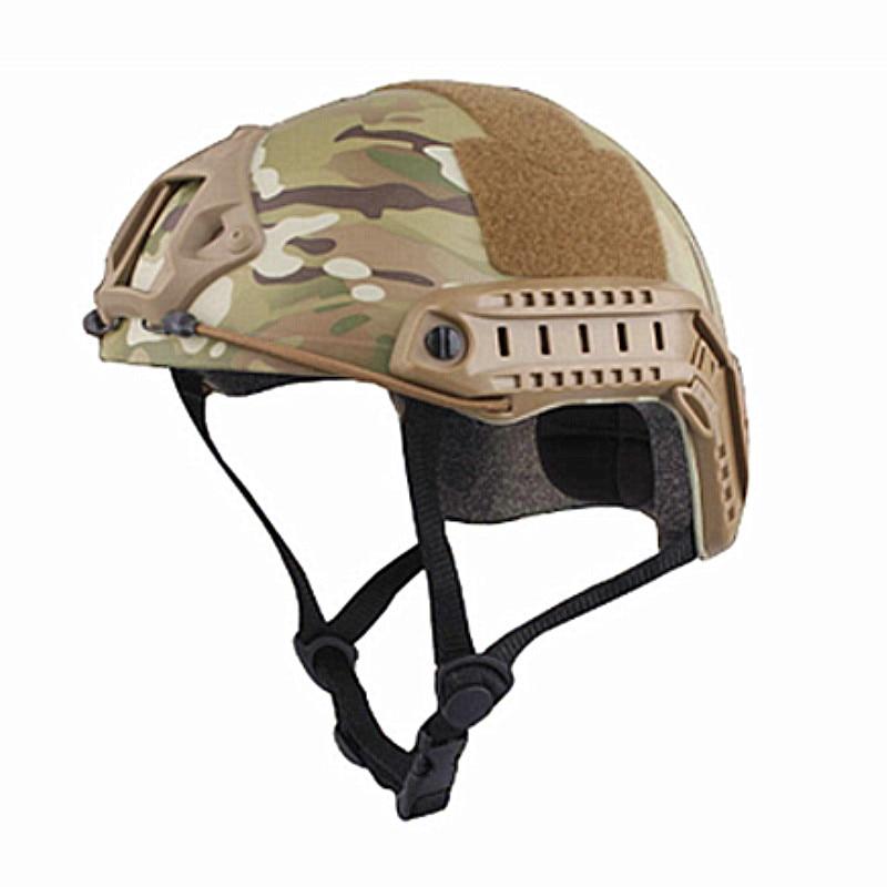 Prix pour Casques de sport Militaire Airsoft Casque Combat RAPIDE Casque MH TYPE Économie Version Multicam Noir pour La Chasse Livraison Gratuite