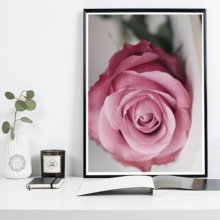 Modern Rose Flower Green Leaves Canvas Painting Wall Art Print Poster Nordic Decorative POP Pictures for Living Room Home Decor